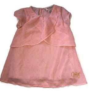 Juicy Couture Pink Dress Gold Sparkle Size 3T